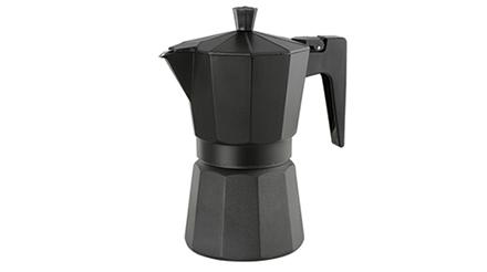cafetera aluminio negra Africa Chefmecsa