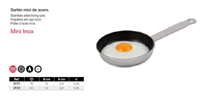 Sartén mini de acero inox chefmecsa